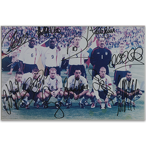 2001 England Football Team Autographs - Framed