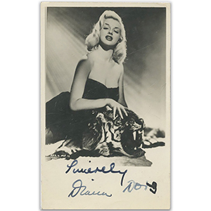 Diana Dors  Signed Autographed Photograph