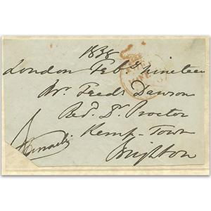 Benjamin Disraeli Signature. Supplied with a Certificate of Authenticity (COA)