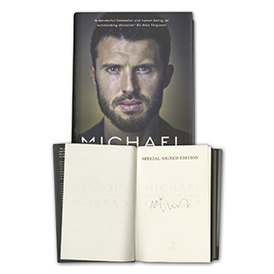 Michael Carrick Signed Book