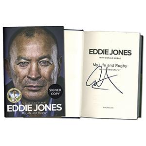 Eddie Jones Signed Book