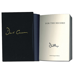 David Cameron Signed Book