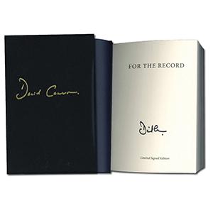 David Cameron Signed Book