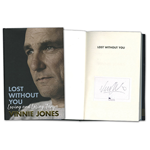 Vinnie Jones Signed Book