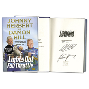 Damon Hill & Johnny Herbert Signed Book
