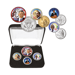 Barack Obama 2nd Term Colourised Coin Collection