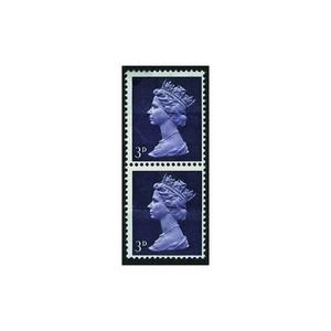 GB 1967 SG 729 3d Violet (1cb) paper join SG729 variety