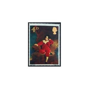 GB 1967 4d Paintings. Phosphor omitted.  SG748ey variety