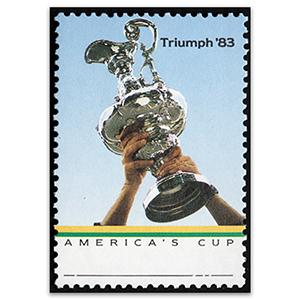 AUS 1986 36c US Cup Trophy, Grey Omitted