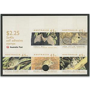 AUS 1992 45c Threatened species, hole punched