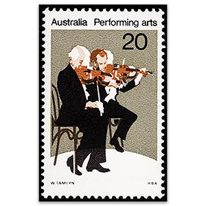 1977 Performing Arts 20c Music misplaced brown u/m