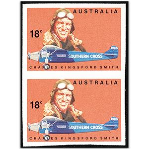 Australia 1978 18c Kingsford Smith imperf pair, u/m