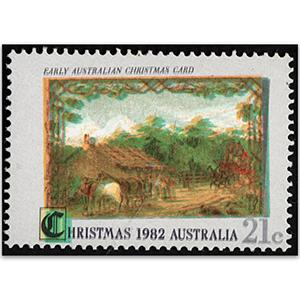 AUS 1982 21c Xmas, Dbl printing of all colours