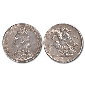 1892 Victorian Silver Crown