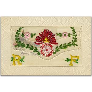 WWI Royal Fusiliers Silk Postcard