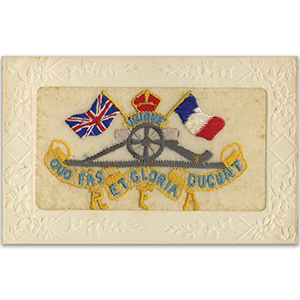 WWI R.F.A. Embroidered Postcard