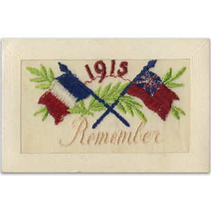 WWI Embroidered Postcard - 1915