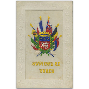 WWI Embroidered Postcard - Rouen