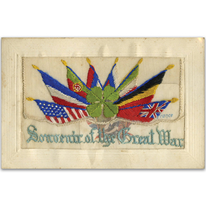 WWI Embroidered Postcard Souvenir Great War