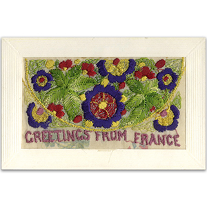 WWI Embroidered France Postcard