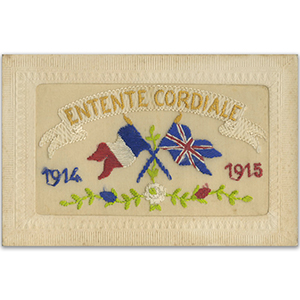 WWI Embroidered Entente Cordiale Postcard (flap)