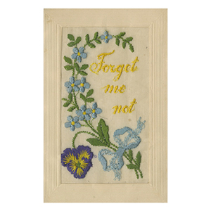 WWI Embroidered Postcard- Forget Me Not (various designs)