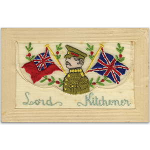 WWI Silk Postcard - Lord Kitchener