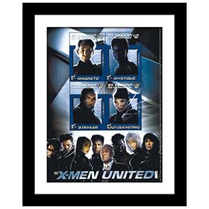 X-MEN United Framed Stamp Sheet