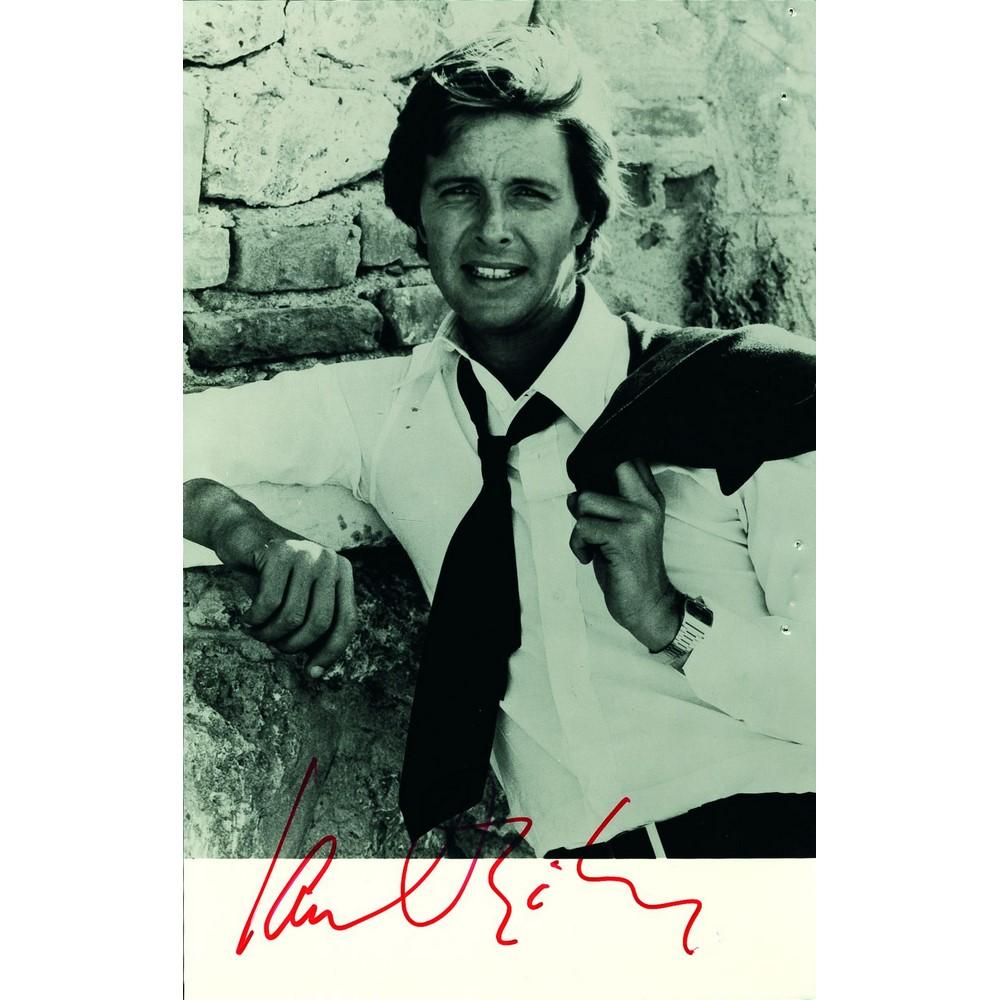 Signed Black and White Photograph Autograph Ian Ogilvy